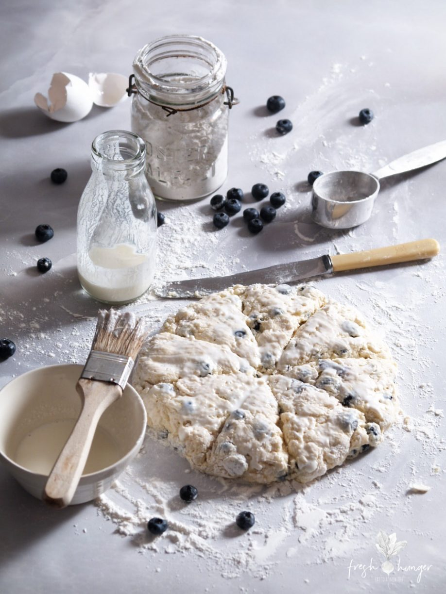 Blueberry Lemon Glazed Scones
