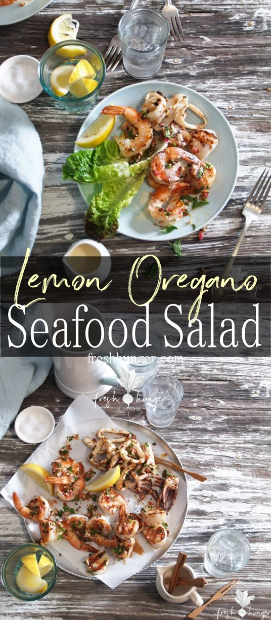 Lemon Oregano Seafood Salad