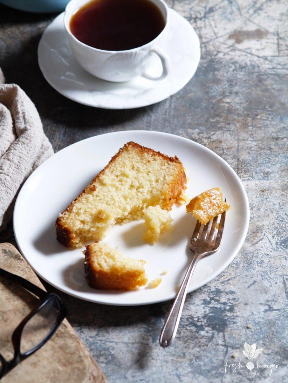 Honey Yogurt Lemon Syrup Cake