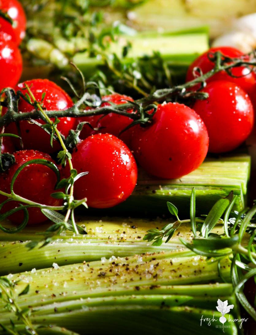 Leek, Garlic & Tomato Provencal