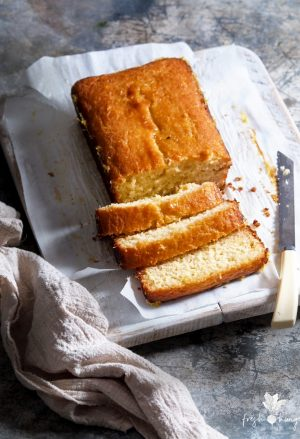 Honey Yogurt Lemon Syrup Cake