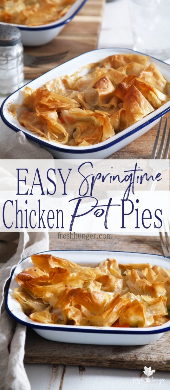 Easy Springtime Chicken Pot Pies