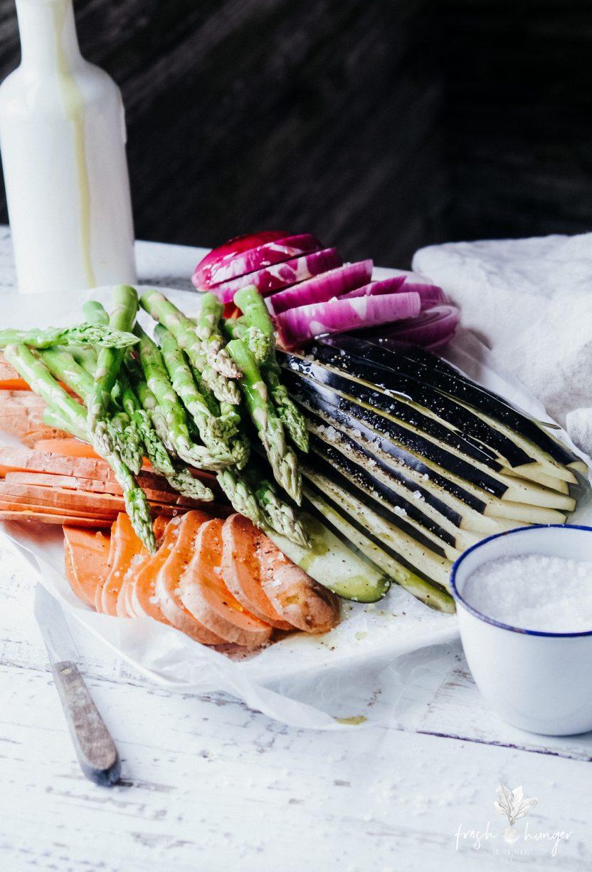 Warm Grilled Veggie Cous Cous Salad