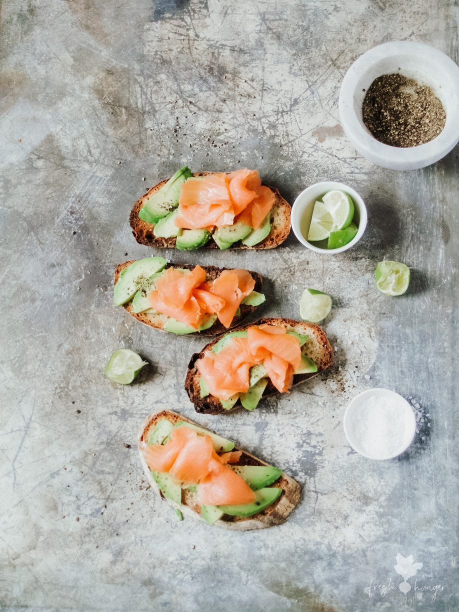 Avocado, Smoked Salmon & Egg Toast