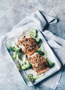 Parmesan Herb Crusted Salmon