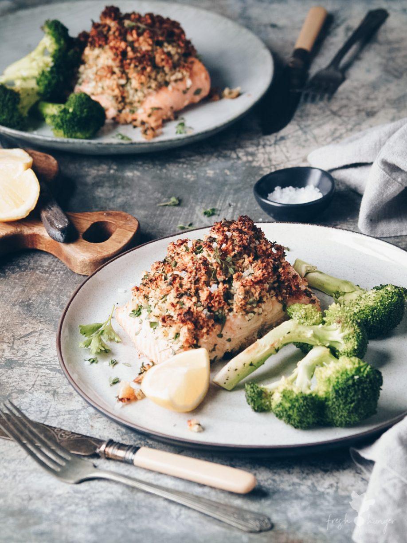 Parmesan Herb Crusted Salmon