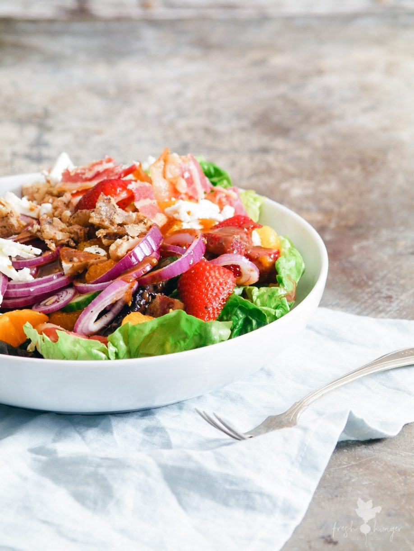 Strawberry, Bacon & Candied Walnut Salad