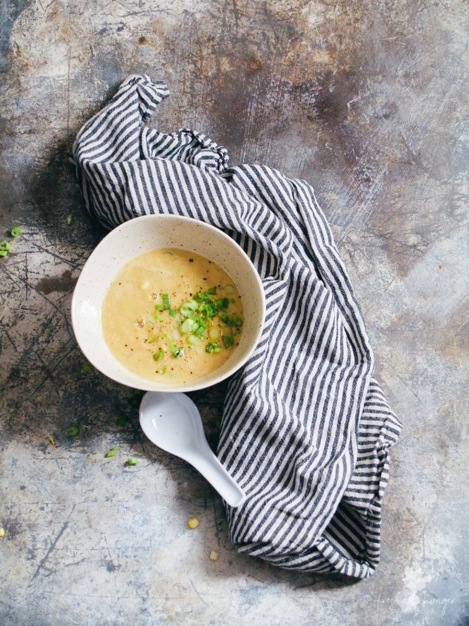 Cream of Corn & Ginger Soup