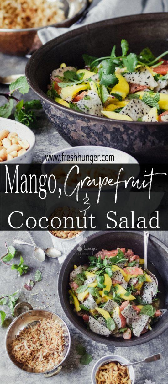 Mango, Grapefruit & Toasted Coconut Salad