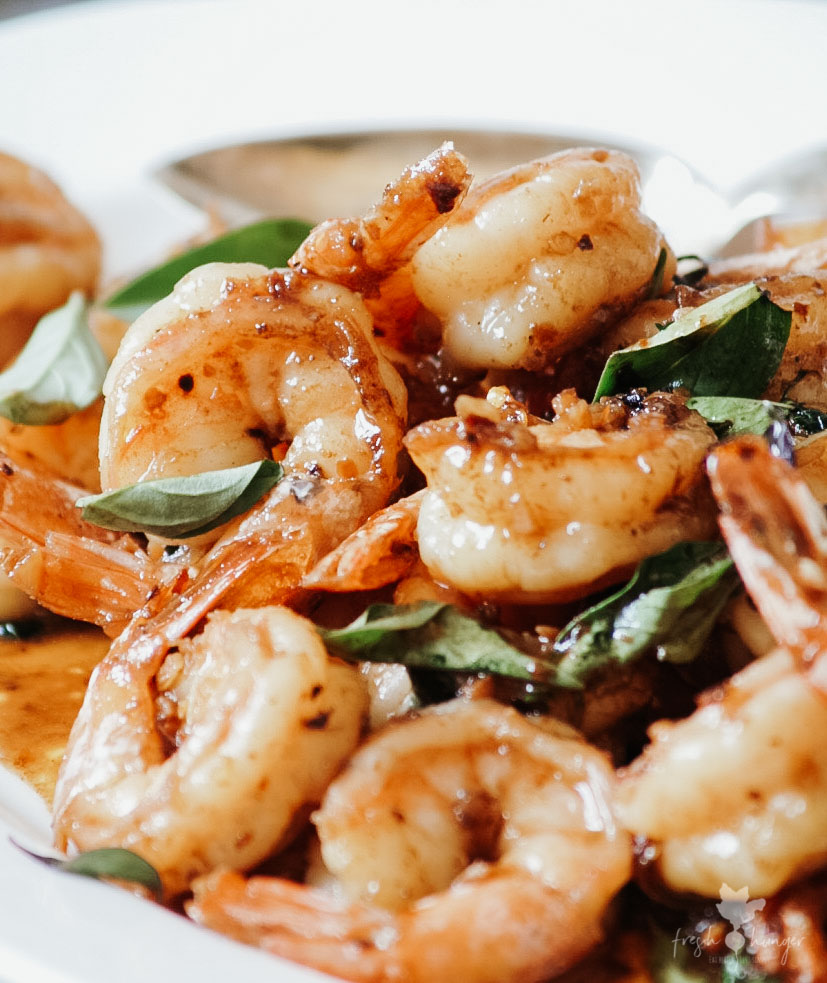 Brown Butter & Thai Basil Garlic Shrimp