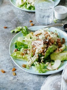 Chicken, Celery & Apple Salad with Avocado Ranch Dressing