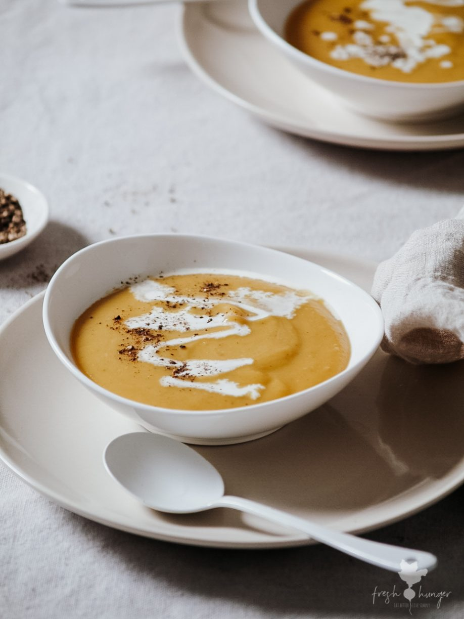 Creamy Butternut Squash & Ginger Soup