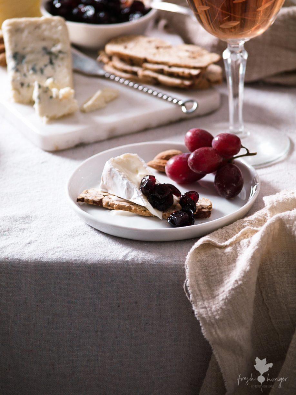 Port Cranberry Chutney & Almond Crackers