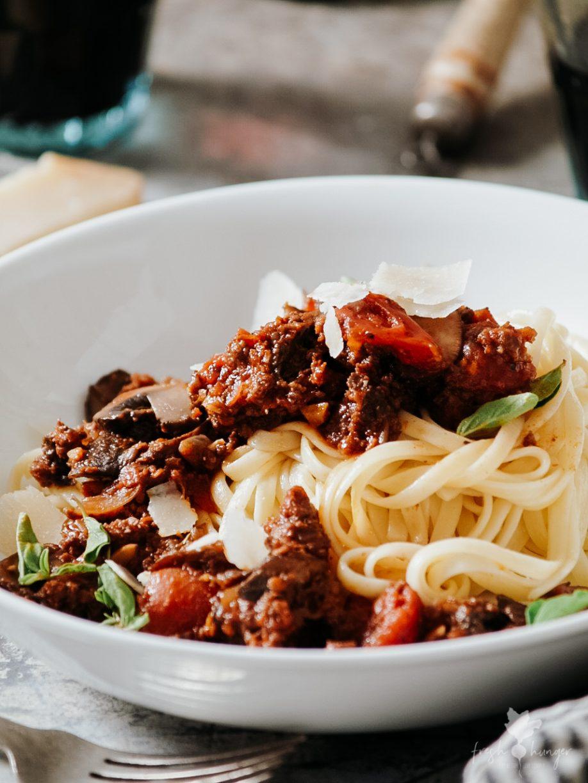 Beef & Mushroom Bolognese Sauce