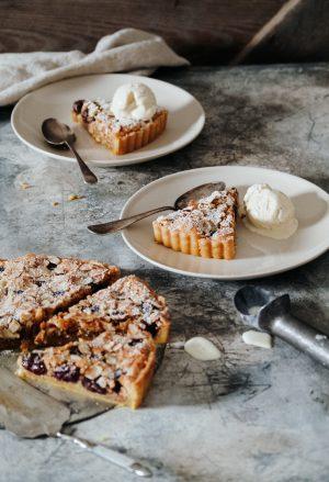 Italian Cherry & Almond Tart