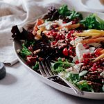 Festive Pear, Grape & Candied Bacon Salad