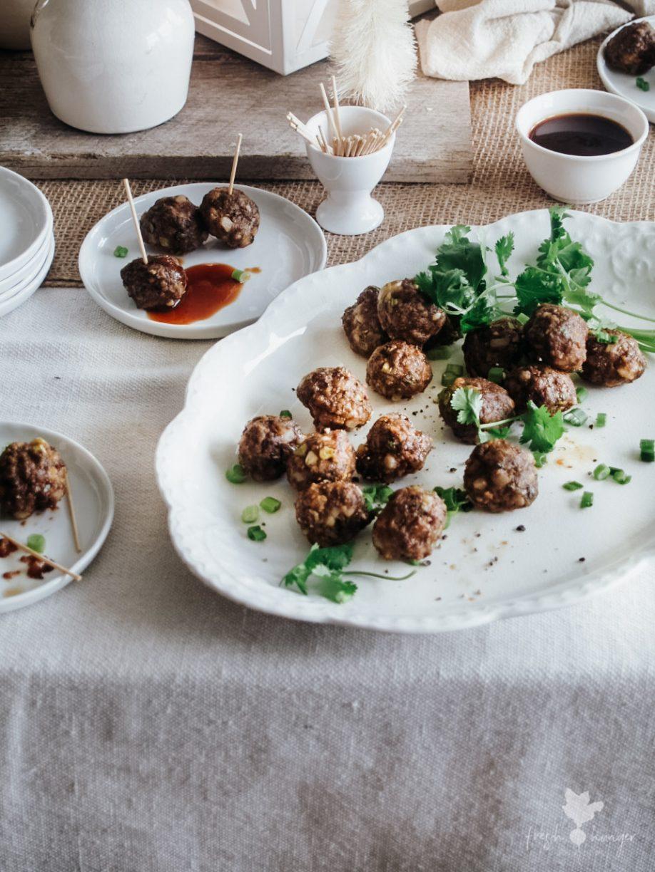 Hoisin & Water Chestnut Meatballs