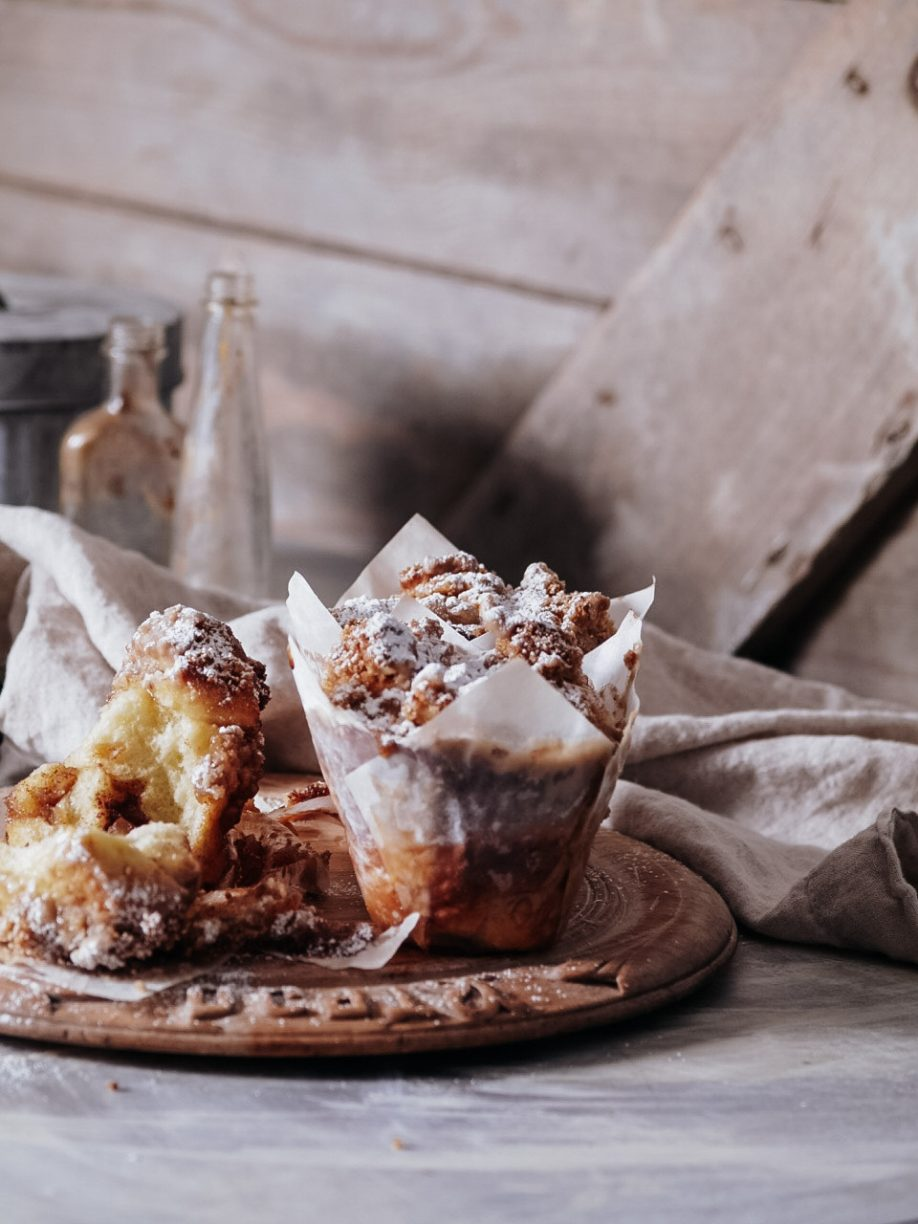 Spiced Apple & Walnut Pull Apart Bruffins