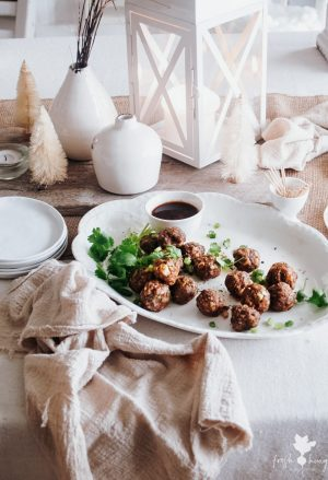 Hoisin & Water Chestnut Meatballs