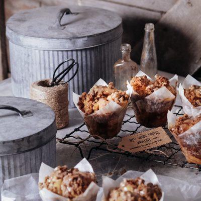 Apple Spice & Walnut Streusel Pull-Apart Bruffins