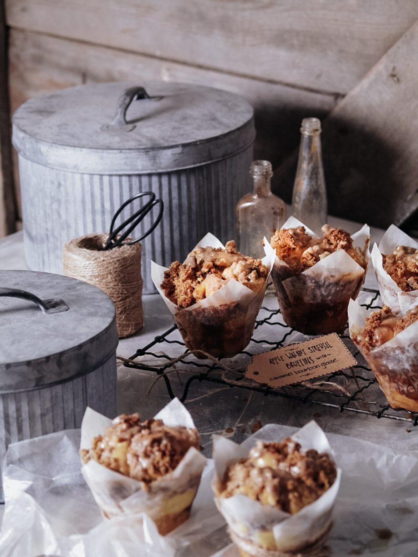 Apple Spice & Walnut Streusel Pull Apart Bruffins