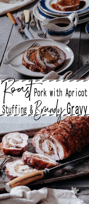 Roast Pork with Apricot Stuffing & Brandy Gravy