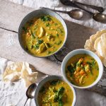 Golden Curry Chicken & Vegetable Soup