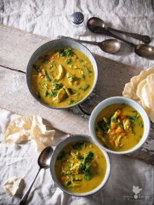 Golden Curry Chicken Soup