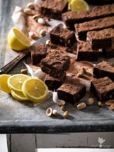 Lemon Pistachio Brownie