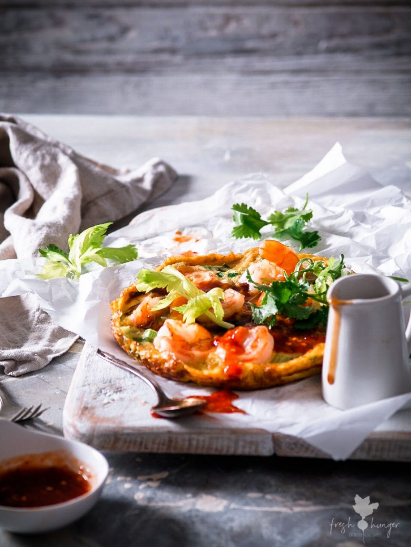 Asian Inspired Shrimp Omelet