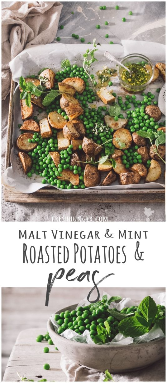 Malt Vinegar & Mint Roasted Potatoes & Peas