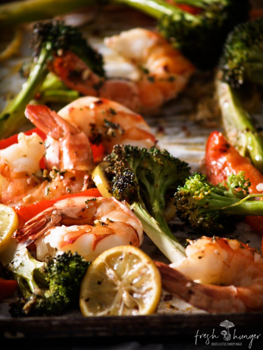 One Pan Garlic Butter Shrimp & Broccoli