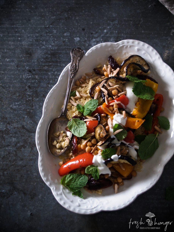 Moroccan Roasted Veg Salad