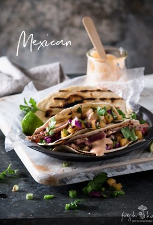 tuna & pineapple salsa tacos
