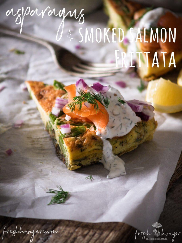 asparagus & salmon frittata