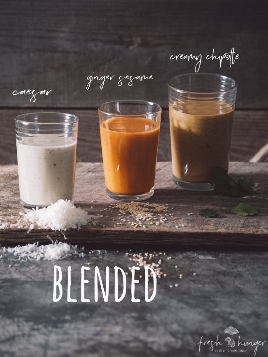 12 essential salad dressings - blended
