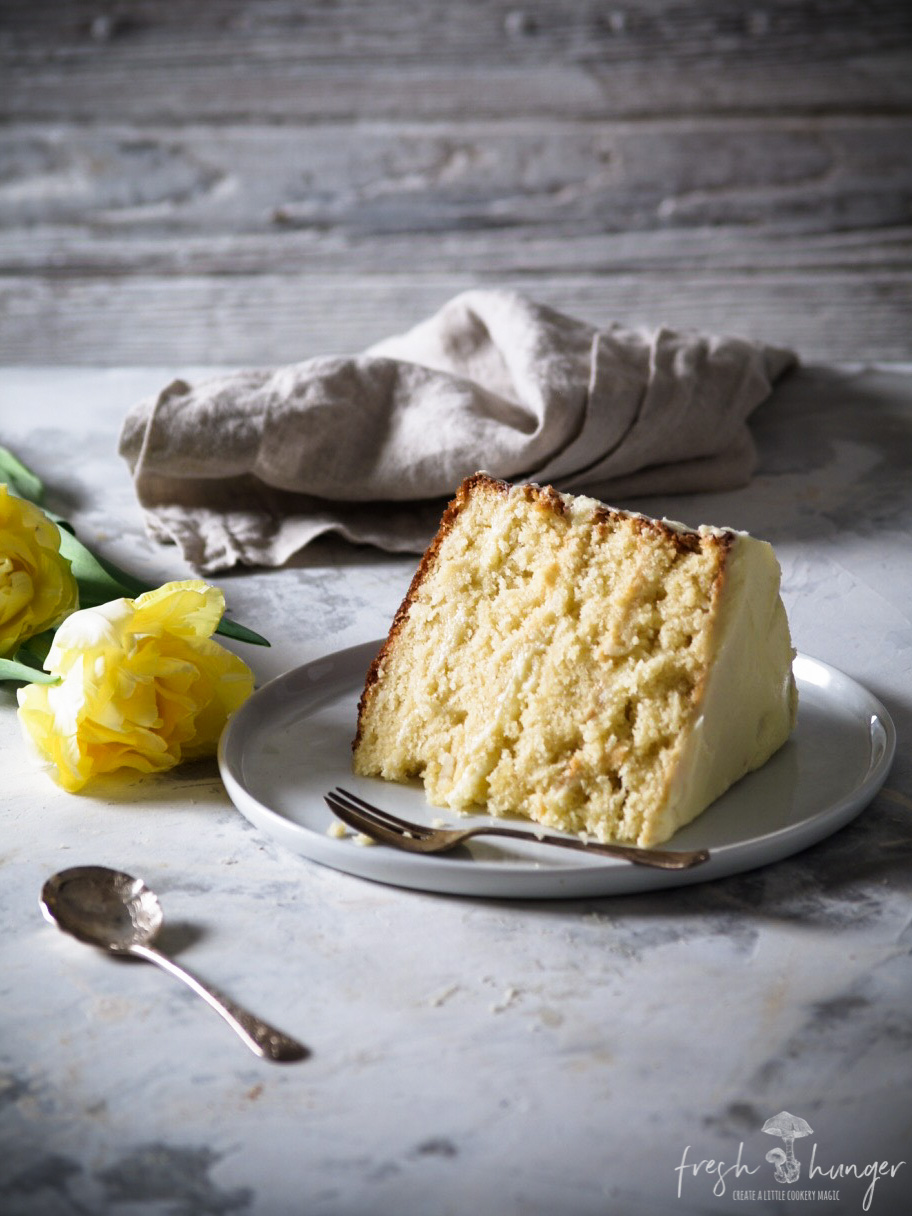 lemon curd coconut cake