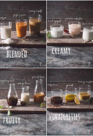 12 essential salad dressings - blended