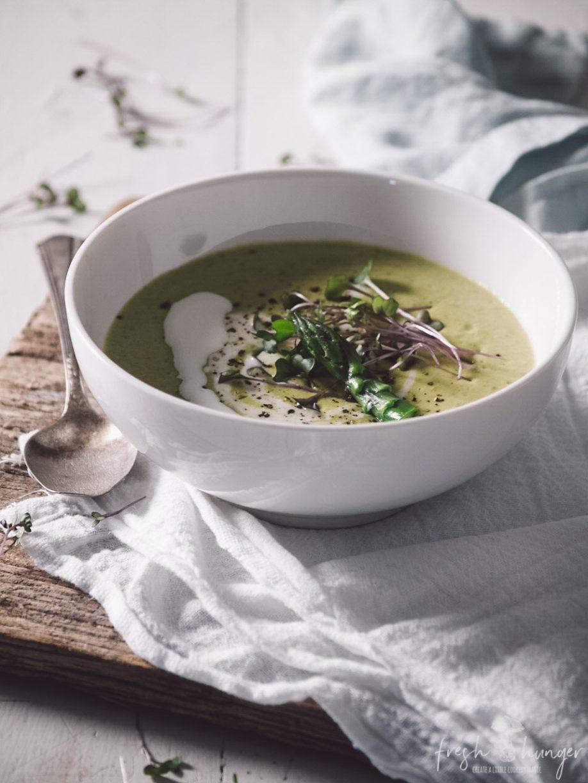 smoky cheese & asparagus soup