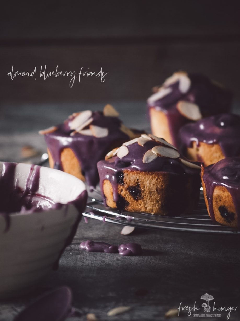 almond  blueberry friands