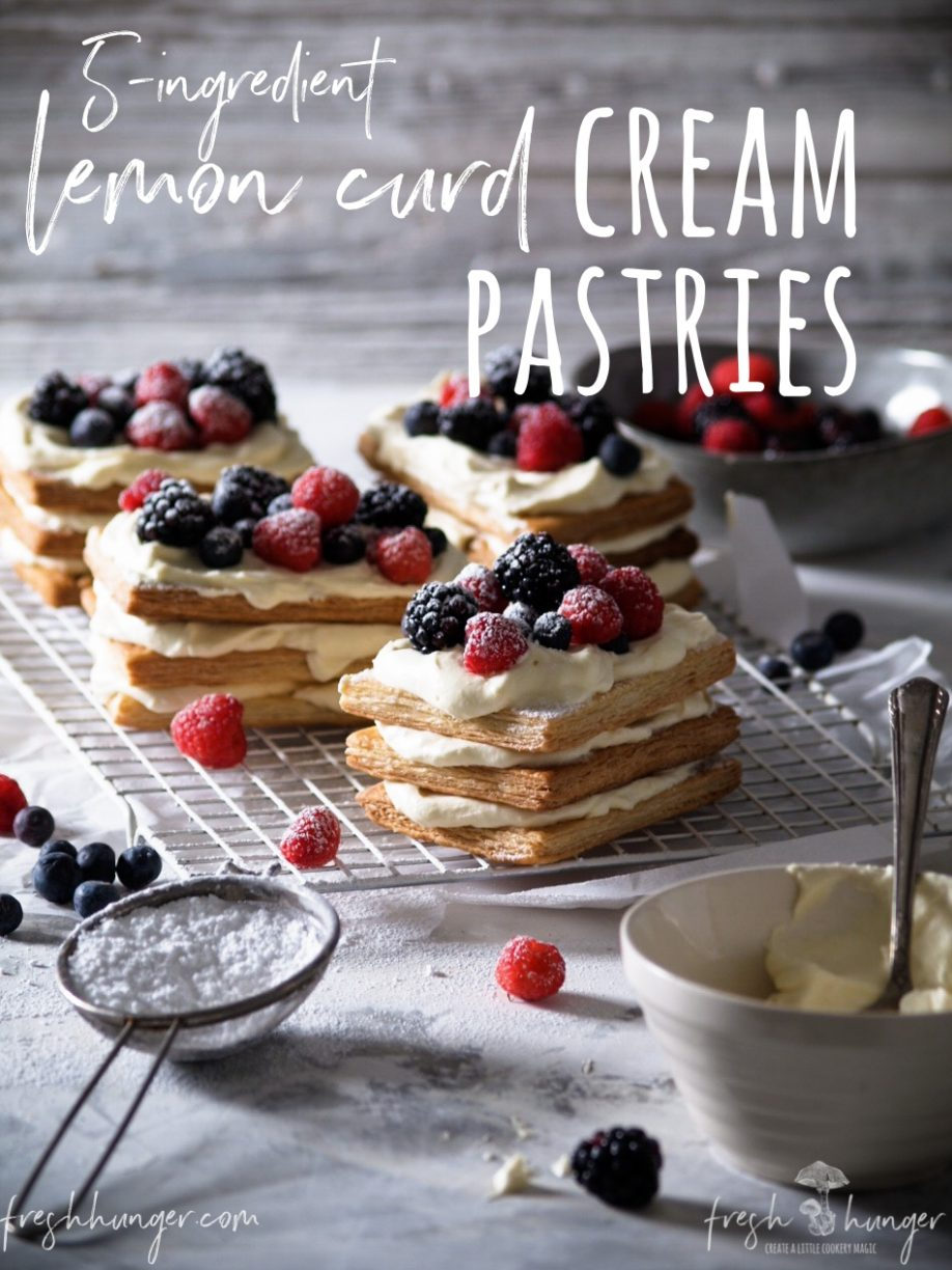 lemon curd cream pastries