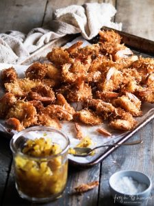 coconut shrimp & pineapple chutney