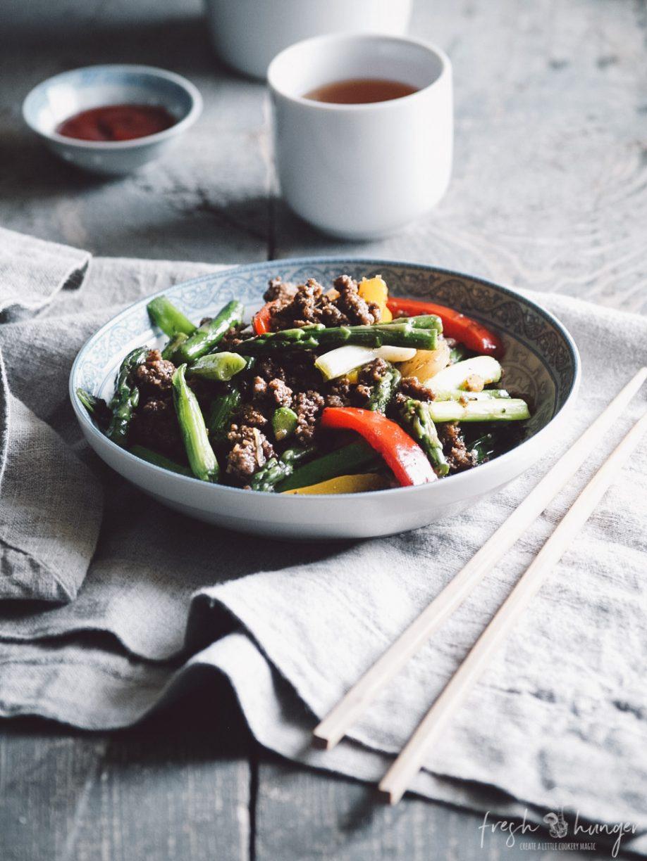 bison & asparagus stir-fry