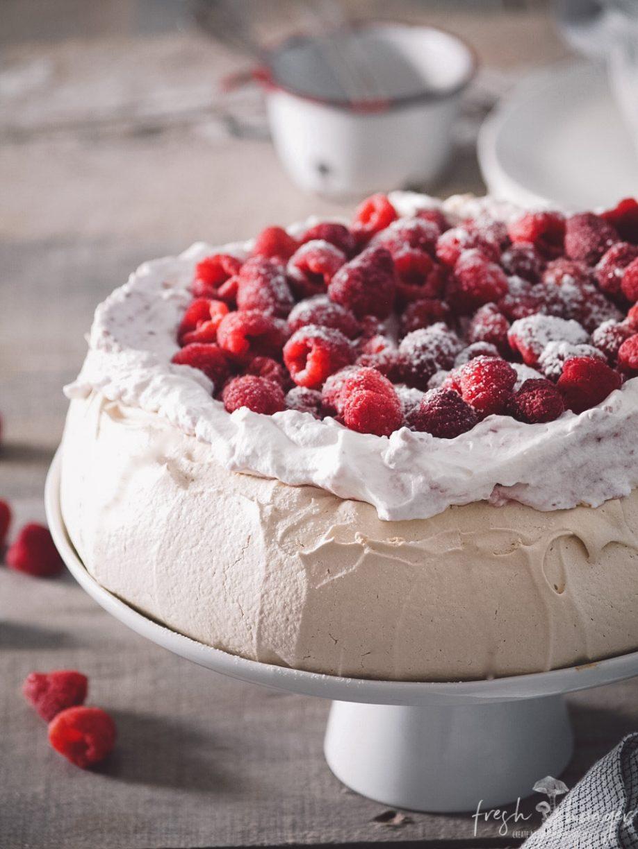 raspberry brown sugar pavlova