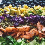 chipotle salmon, corn & avocado chopped salad