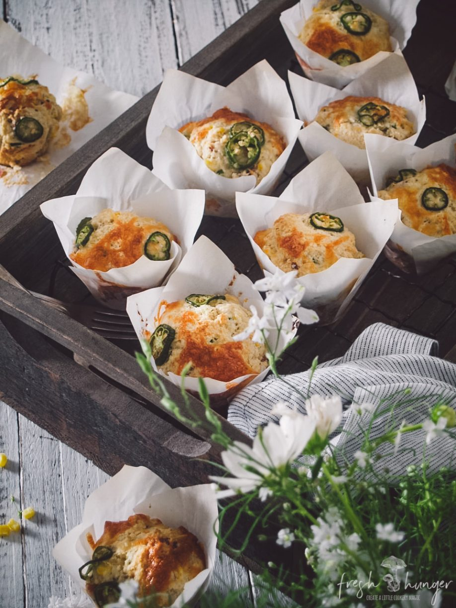 corn, jalapeno, bacon & cheese muffins