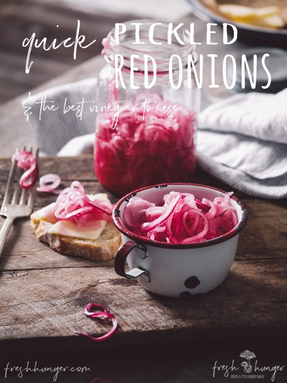 quick pickled red onions & the best vinegar to use