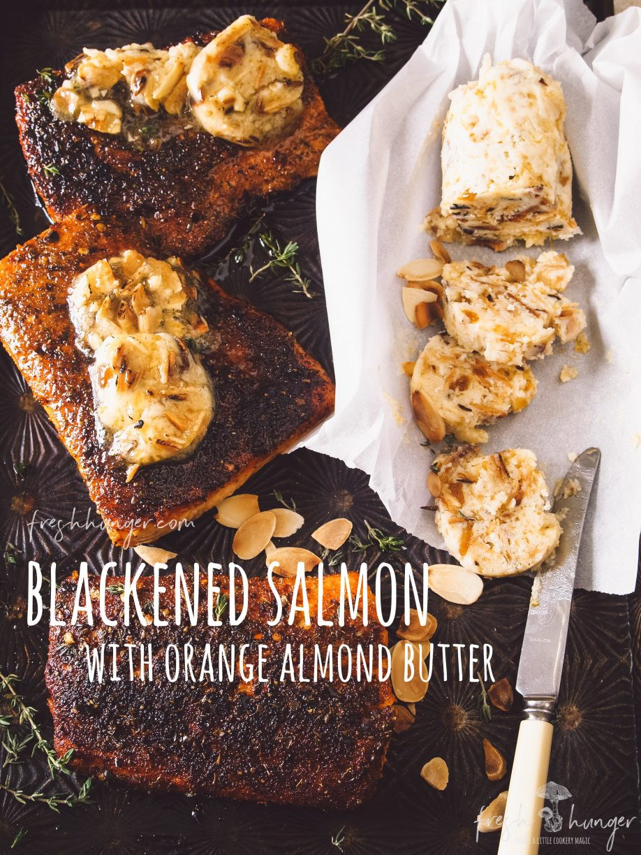 with orange almond butter
