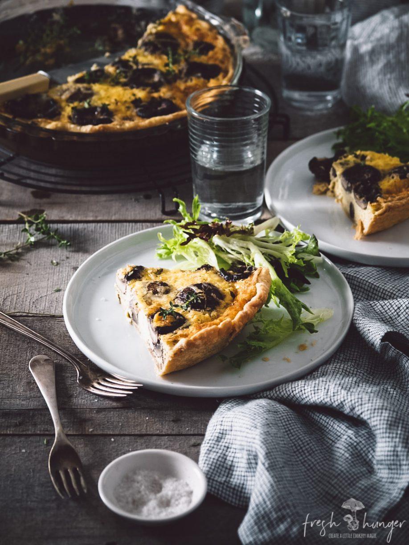 mushroom & swiss quiche