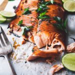 grilled maple rye salmon